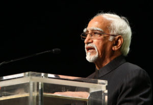 """The Vice President, Shri Mohd. Hamid Ansari addressing at the """"Golden Jubilee Commemorative Summit of the African Union"""", in Addis Ababa, Ethiopia on May 25, 2013."""