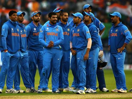 CARDIFF, WALES - JUNE 20:  The Indian team look on during the ICC Champions Trophy Semi Final match between India and Sri Lanka at SWALEC Stadium on June 20, 2013 in Cardiff, Wales.  (Photo by Matthew Lewis-ICC/ICC via Getty Images)